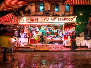 Seafood market Causeway bay / Plexiglas