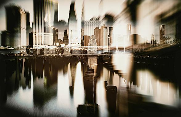 NY Skyline / plexiglas