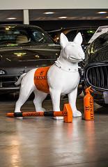 Dog Hermes set / polystone & paint / B-art