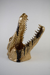 Crocodile head / Polystone & Epoxy / B-art