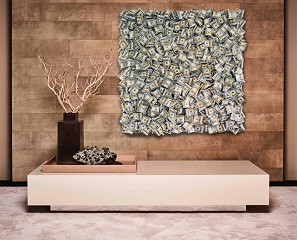 Money / canvas met epoxy. limited masterpiece / B-art
