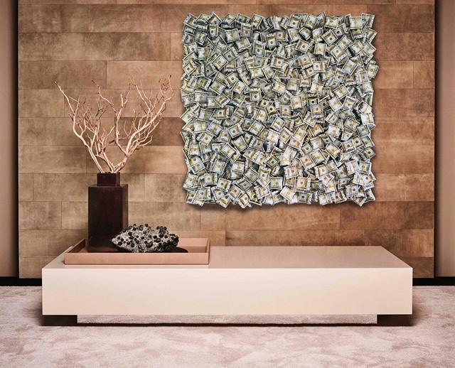 Money / canvas met epoxy. limited masterpiece / B-art