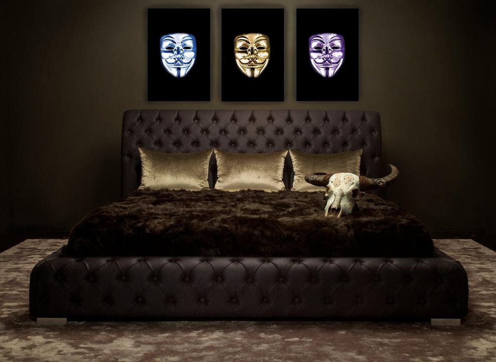Anonymous Mask set of 3 / plexiglas / B-art