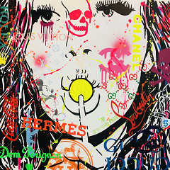 Lollipop / painting on canvas / B-art