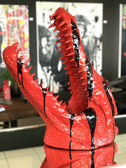 Crocodile head / Polystone & Epoxy / B-art