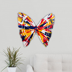 Butterfly yellow blue interrior