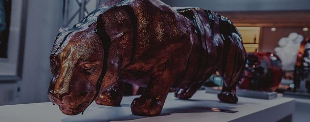 Jaguar / Paint & Epoxy on Polystone