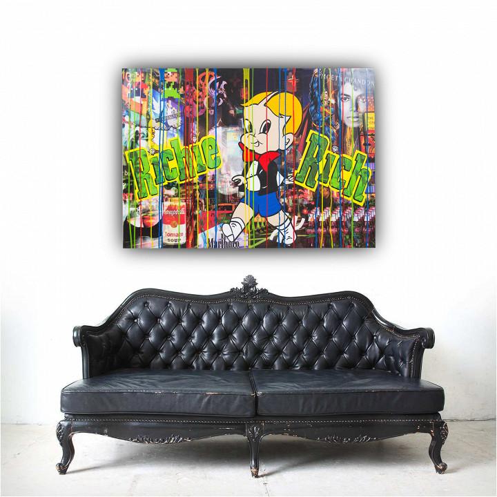 Richy Rich / Epoxy & print on canvas