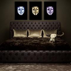 Masks set of 3 / plexiglas