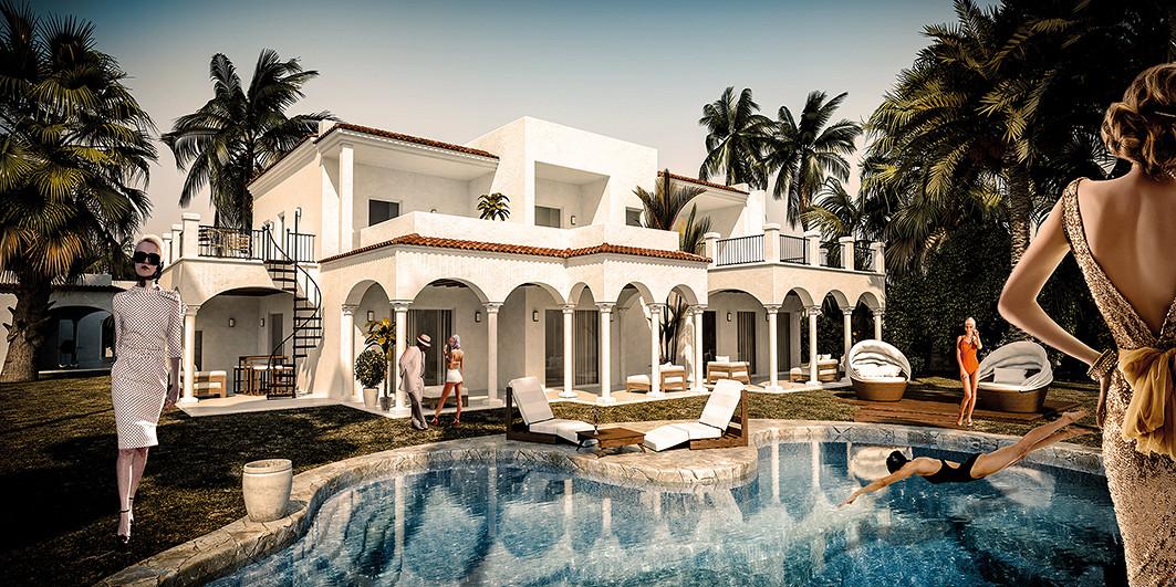 Afternoon in Palm Beach / plexiglas