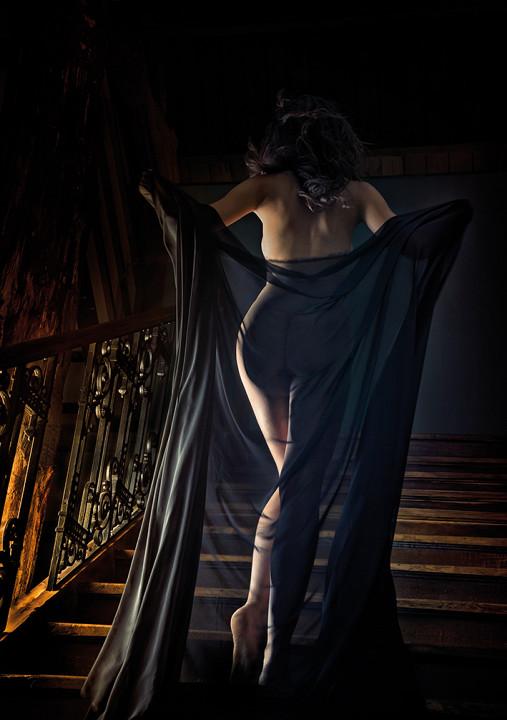The night veil / foto op plexiglas