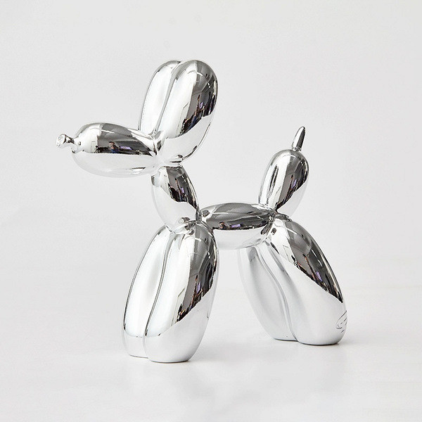 Balloon Dog shiny Sculpture silver