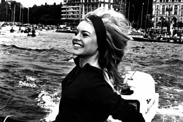 Brigitte Bardot B/W / foto op plexiglas